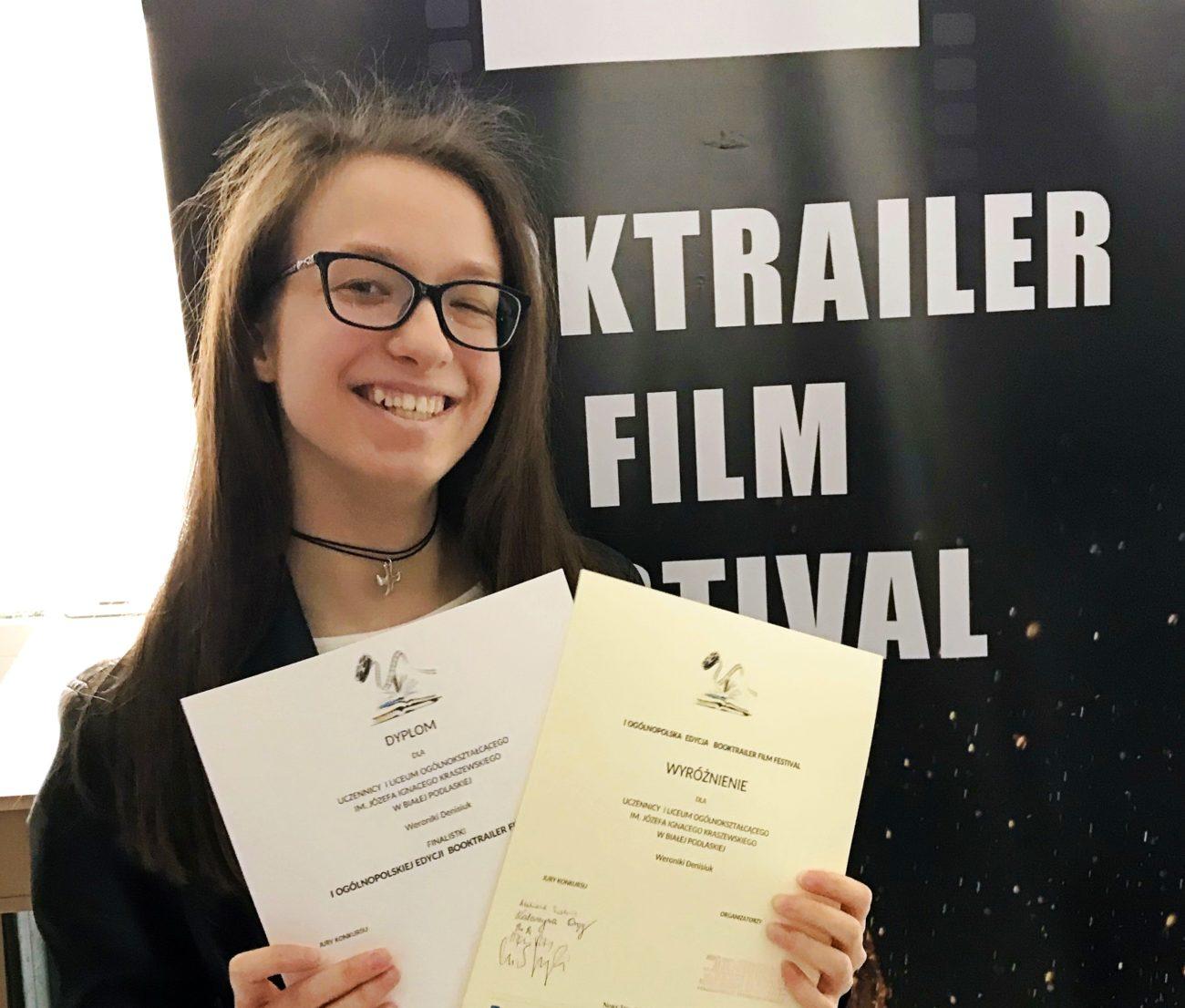 Licealistka z Białej nominowana do międzynarodowego Booktrailer Film Festival
