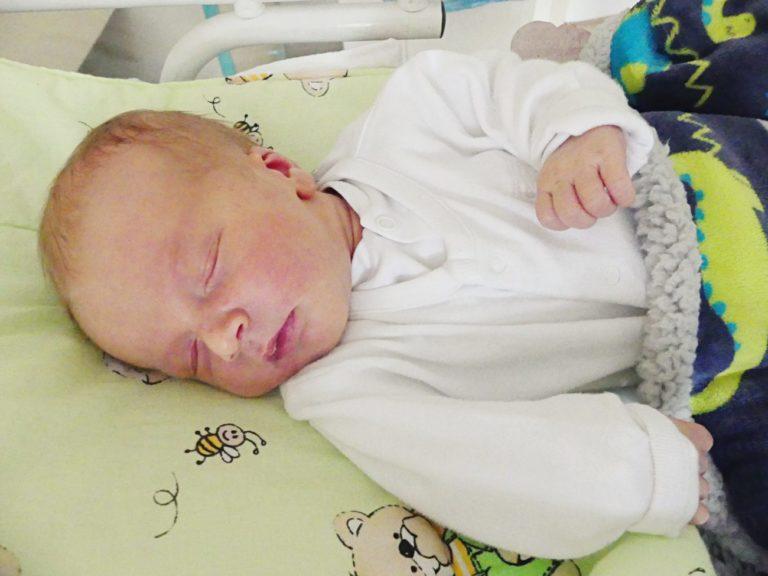 Dorota i Leszek Hładoniuk z Białej Podlaskiej 14 maja po raz pierwszy zostali rodzicami. Jaś ważył 3750 g i mierzył 59 cm.