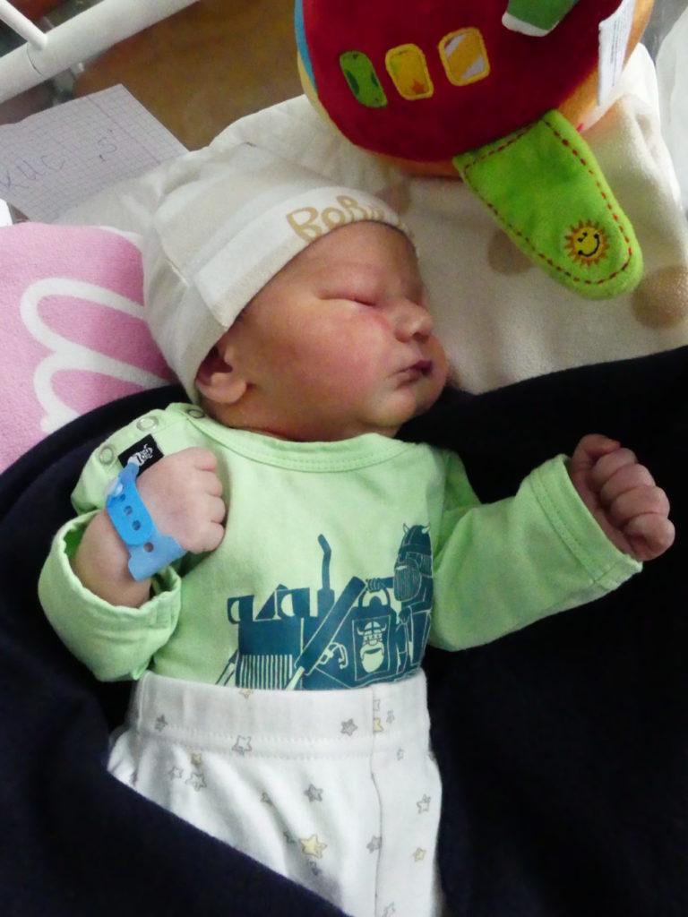 Synek Agnieszki i Marka z Droblina (gm. Leśna Podlaska) urodził się 18 lipca, ważąc 3600 g. Chłopiec jest trzecim dzieckiem w domu.
