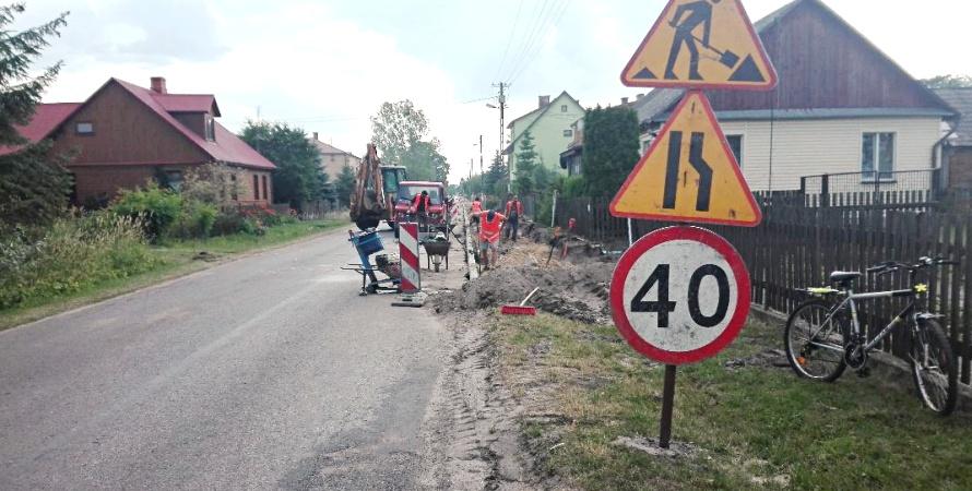 Nowe chodniki w Łomazach
