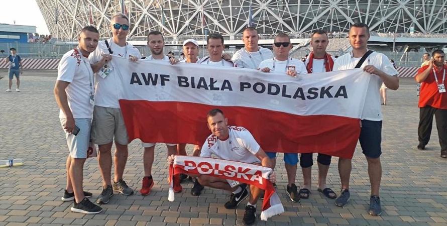 Bialska drużyna gorąco przyjęta przez Rosjan na mundialu