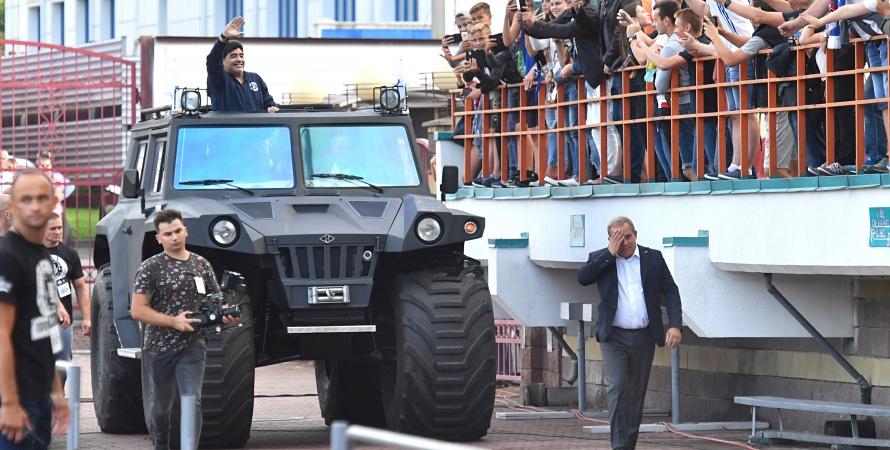 Diego Maradona rozpoczął prezesowanie w Brześciu [ZDJĘCIA]
