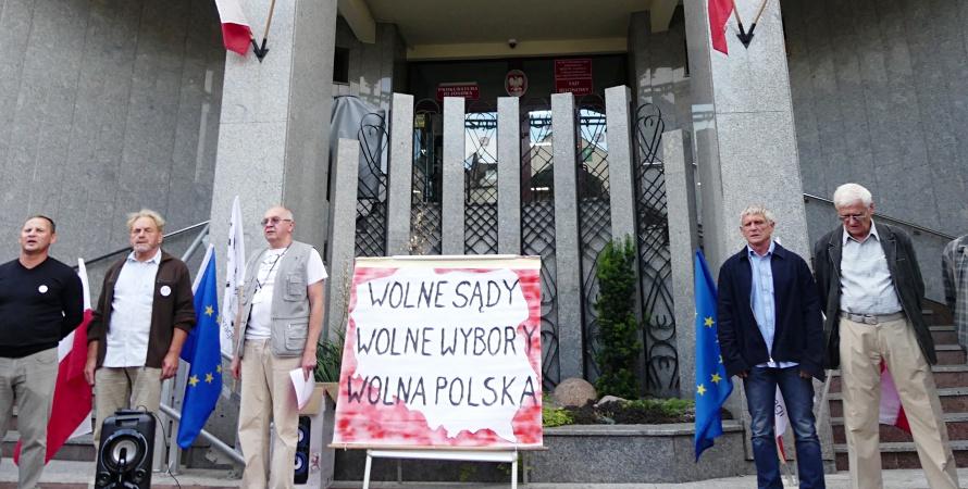 Biała Podlaska: Protestowali w obronie wolnych sądów