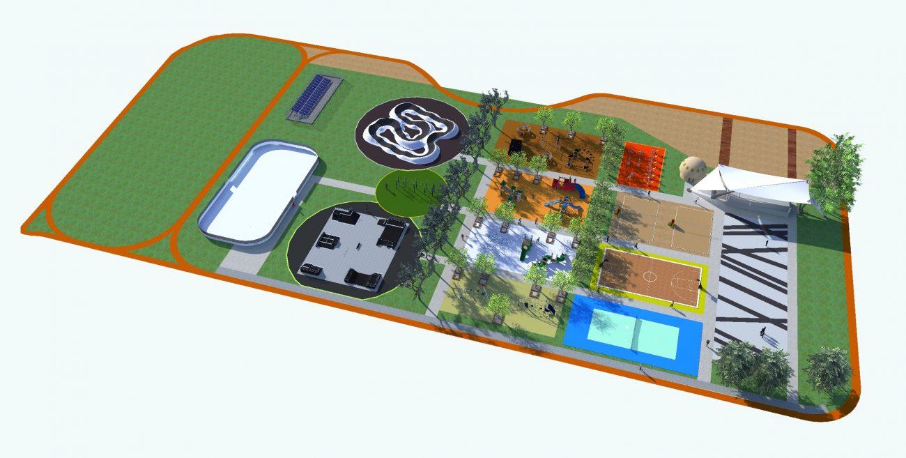 Międzyrzec Podlaski: Skatepark i korty na Jeziorkach