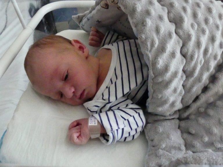 Julek urodził się 22 kwietnia z wagą 3910 g i miarą 57 cm. To pierwsze dziecko Katarzyny i Kamila Szajda z Białej Podlaskiej.