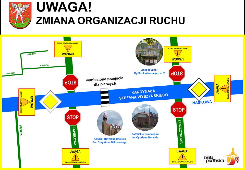 Zmiana organizacji na Wyszyńskiego