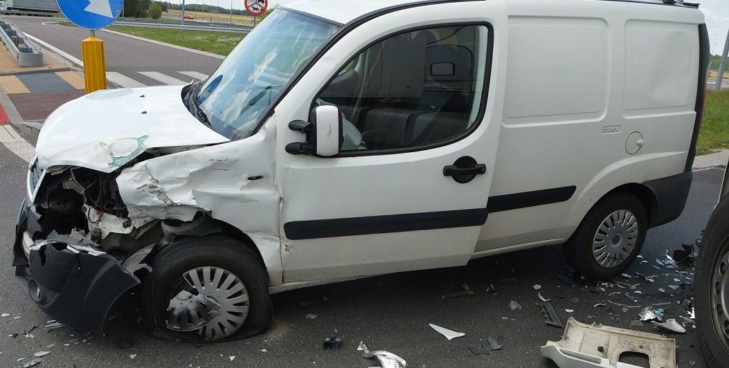 Ciężarówką wymusił pierwszeństwo na fiacie
