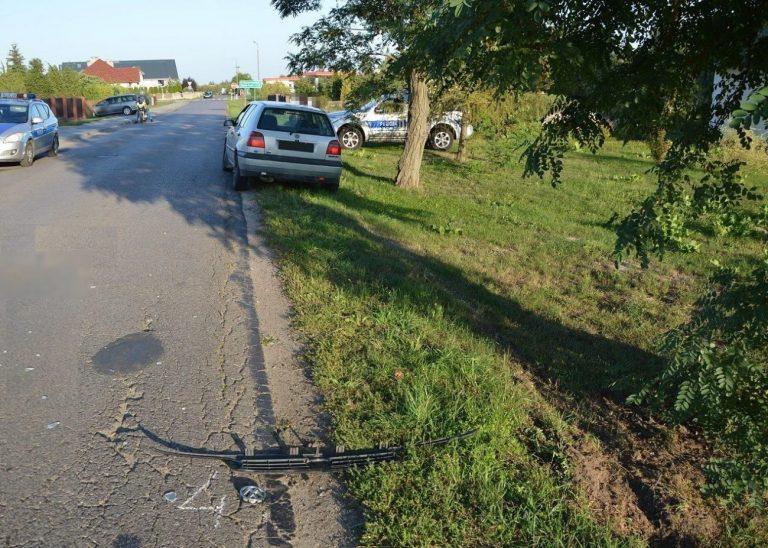 9-letni rowerzysta wjechał pod volkswagena