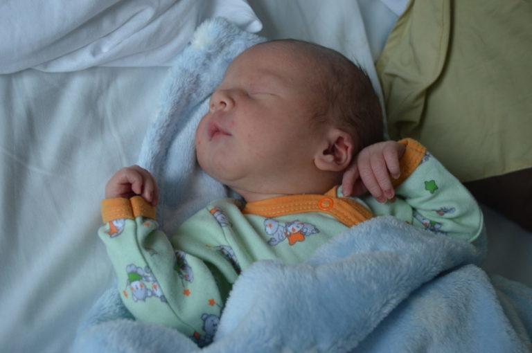 Katarzyna i Łukasz Demczukowie z Białej Podlaskiej 22 stycznia doczekali się pierwszego dziecka. Maciej ważył 3000 g i mierzył 54 cm.