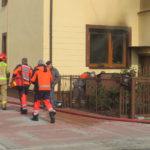 Pożar domu na Bartoszewicza. Trzy osoby trafiły do szpitala