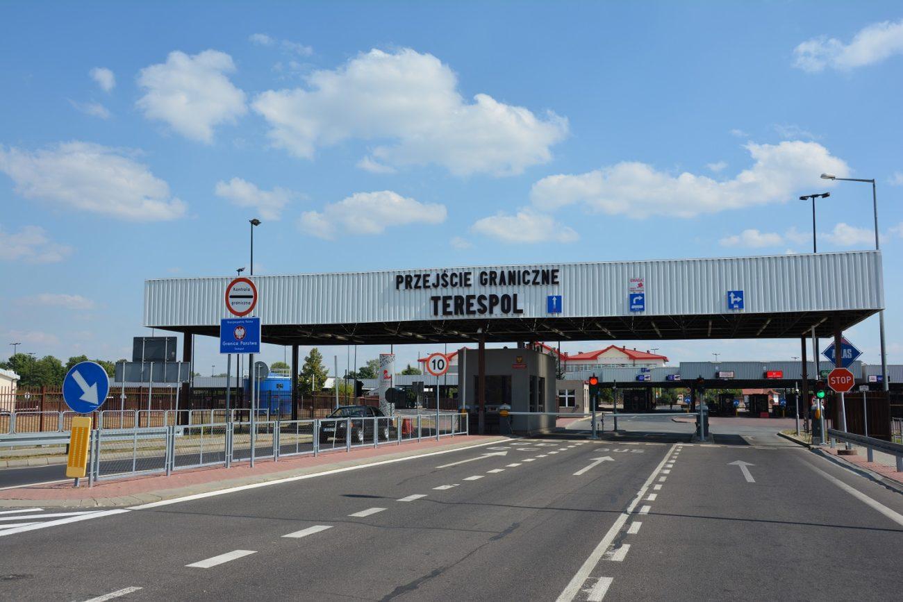 Kontrola sanitarna na granicy z Białorusią