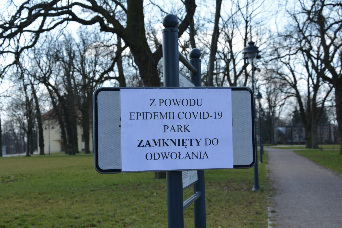 Park Potockich zamknięty