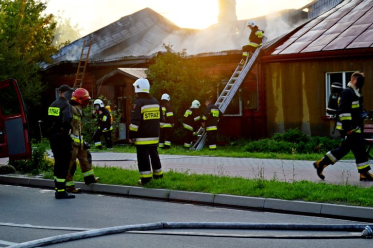Groźny pożar domu w Terespolu