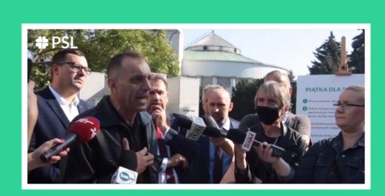 Sulima zapowiada głodówkę w proteście przeciwko Piątce Kaczyńskiego