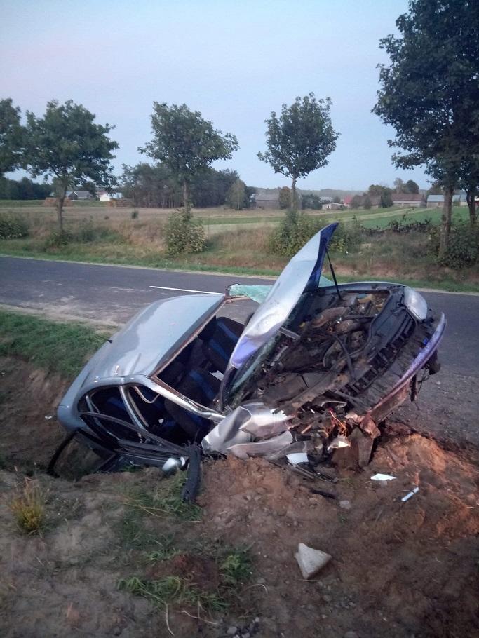 Wypadek w Klonownicy. Cztery osoby w szpitalu