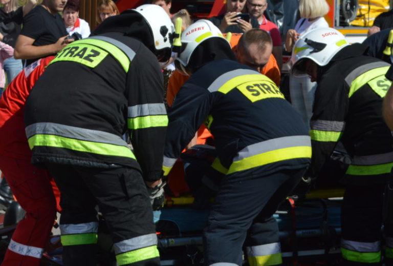 Tragedia pod Drelowem: Obok płonącego auta leżał człowiek