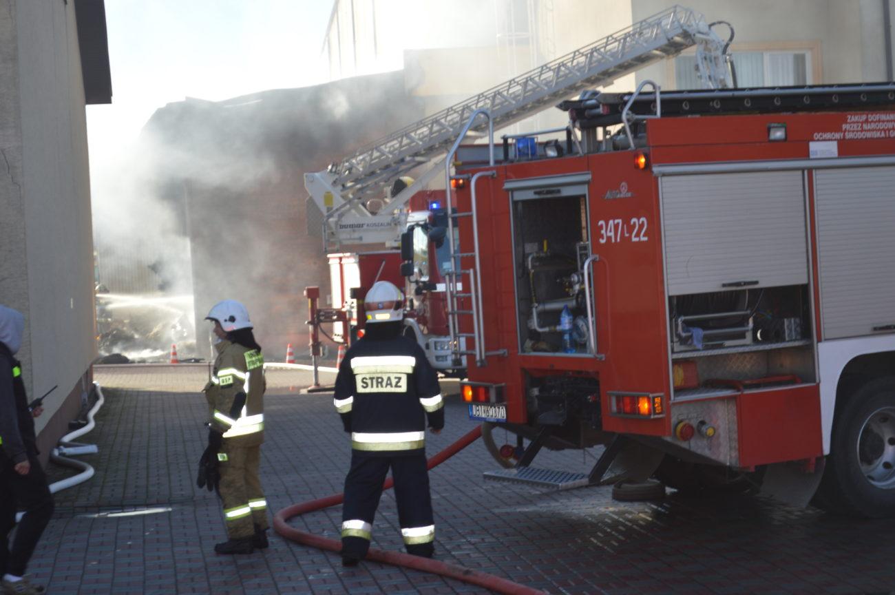 Pożar w fabryce ciastek