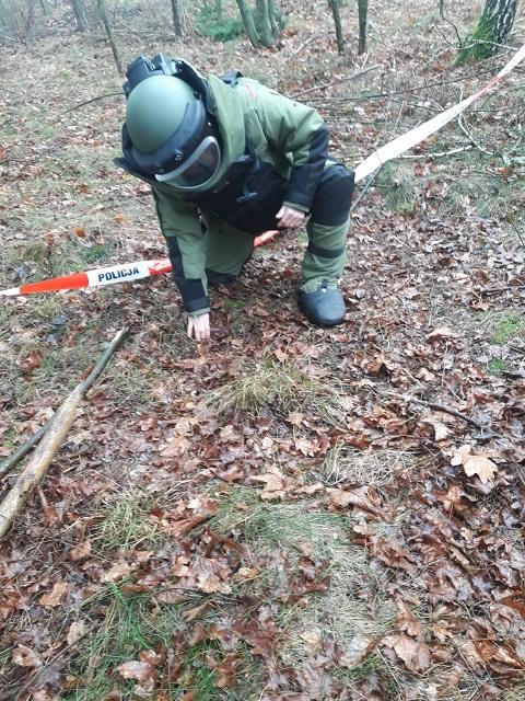 Niewybuch znaleziony w lesie