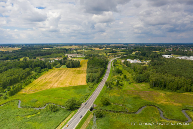 Autostradą w kierunku Białej Podlaskiej