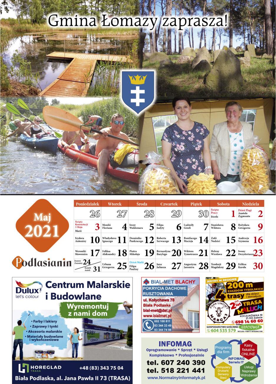 Kalendarz - maj