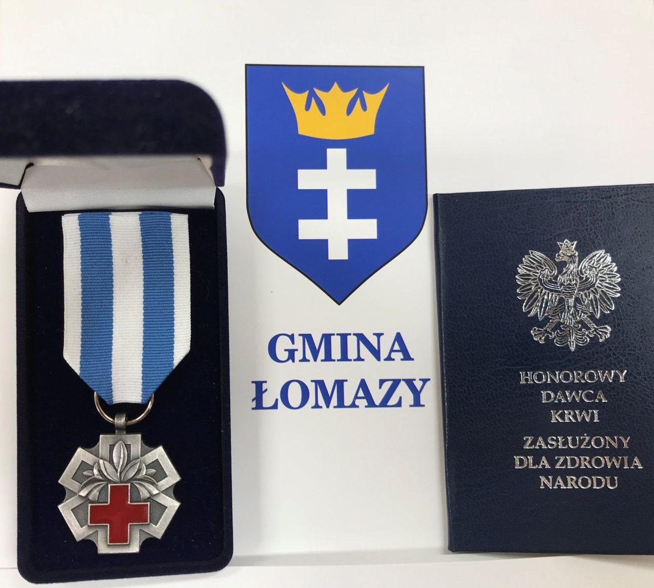 Honorowy Dawca Krwi z gminy Łomazy