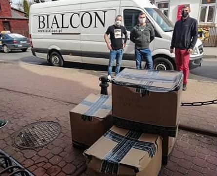 Maseczki od firmy Bialcon trafiły do miasta