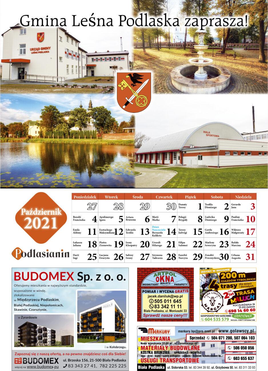 Kalendarz - październik