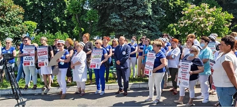 Protestowali przed szpitalem w Parczewie