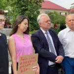Działacze Lewicy okazali wsparcie prześladowanym Białorusinom
