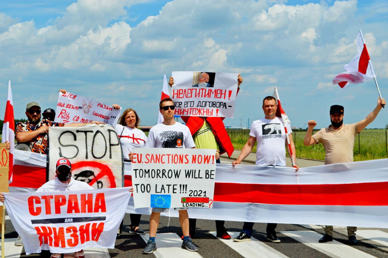 Białorusini walczą o otwarcie granicy