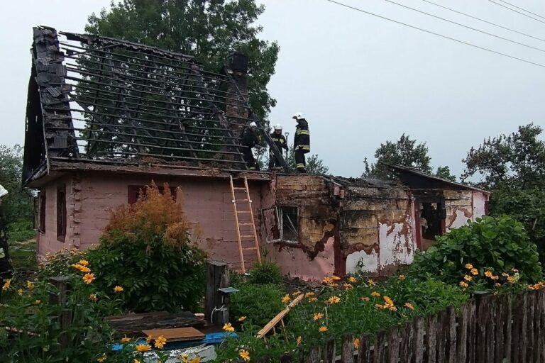 Spłonął dom w Mościcach
