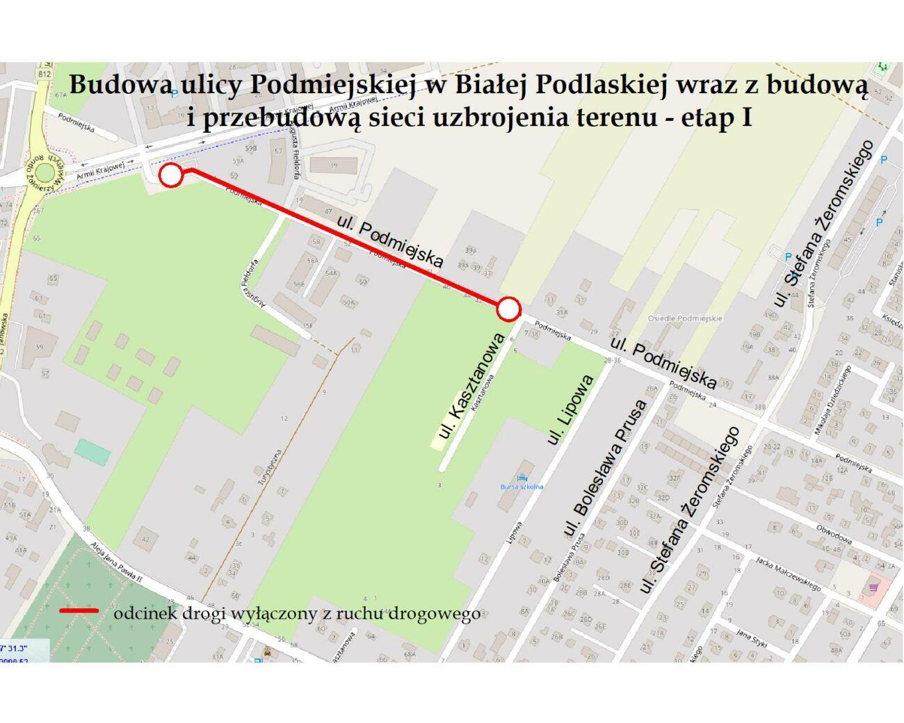 Rozpoczyna się remont Podmiejskiej. Jak będzie przebiegał ruch?