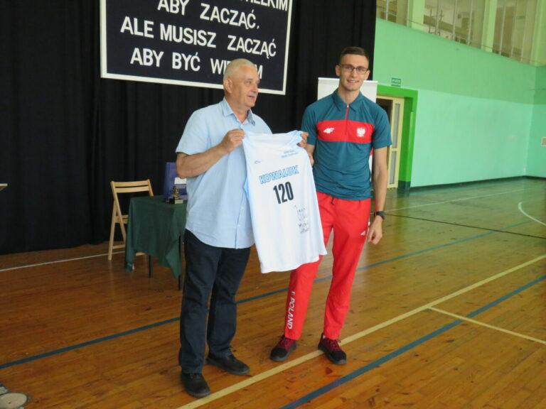 Kraszewski gościł olimpijskiego mistrza